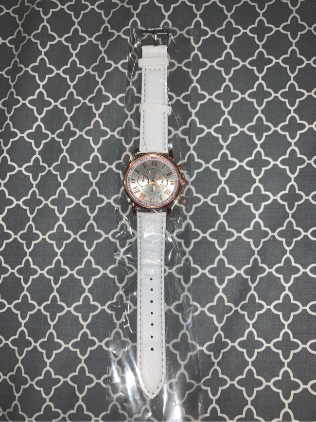 Photo Rose Gold and White Women's Watch