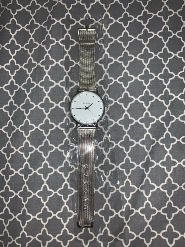 Photo Silver and White Women's Watch
