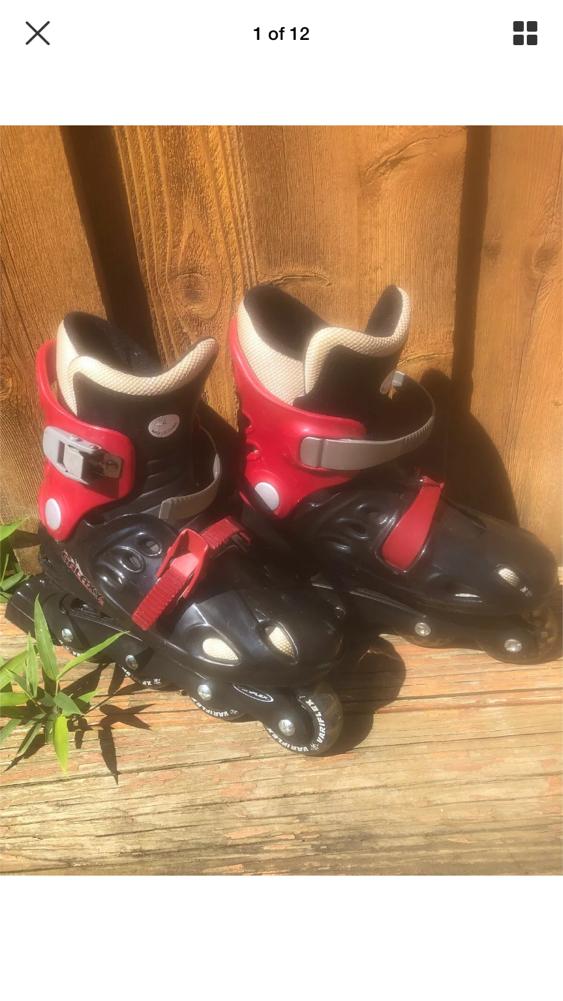 Photo Variflex Galaxy 2 Youth Size 4 Black & red Inline Skates Roller Skates