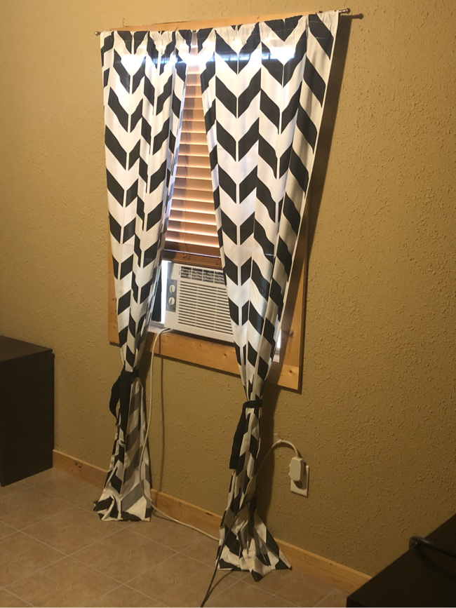Photo Black and white curtains