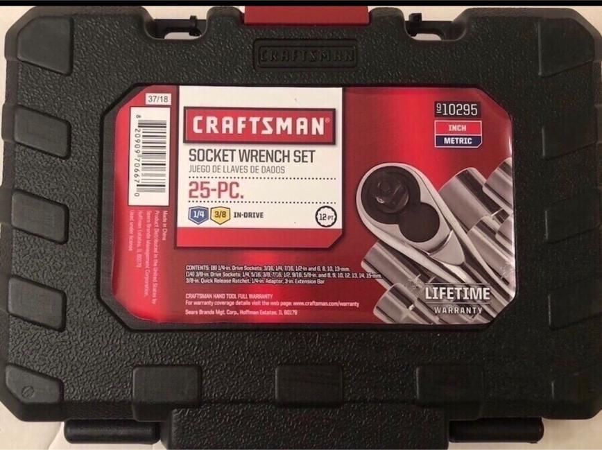 Photo Brand new in box 25 piece Craftsman socket wrench set