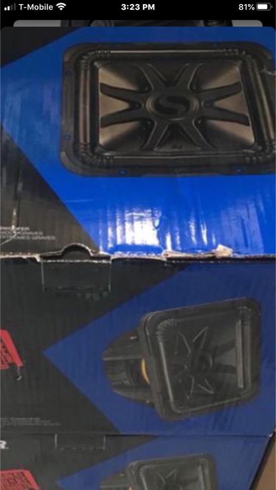 "Photo Kicker 12"" woofer L7 $209 each brand new with 6 months warranty"
