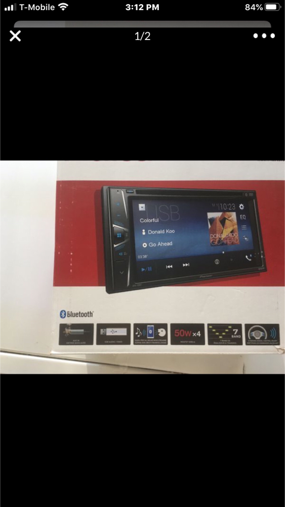 Photo Pioneer double din DVD player Bt and more brand new with warranty