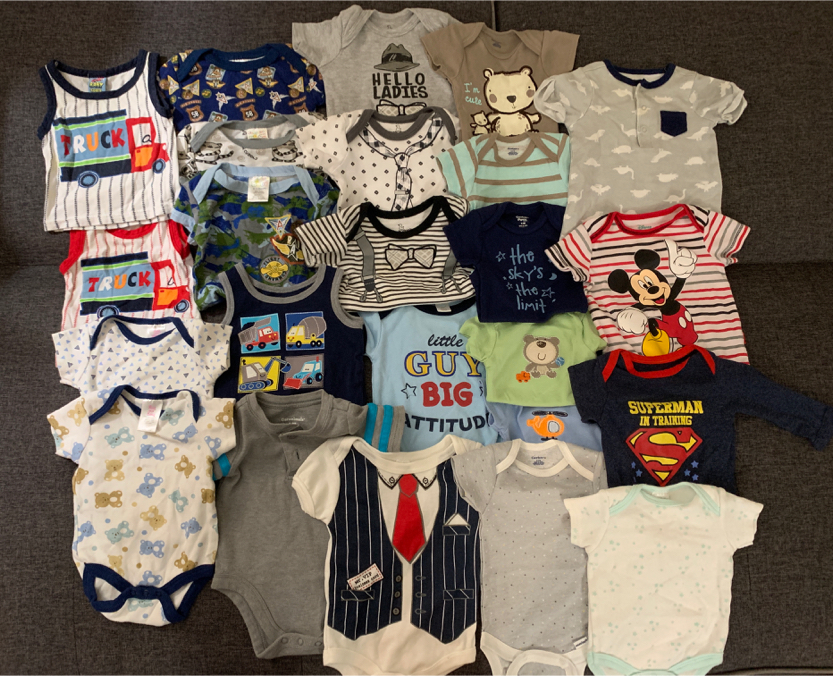 Photo Baby clothes bundle size 0-3 for boys assorted brands