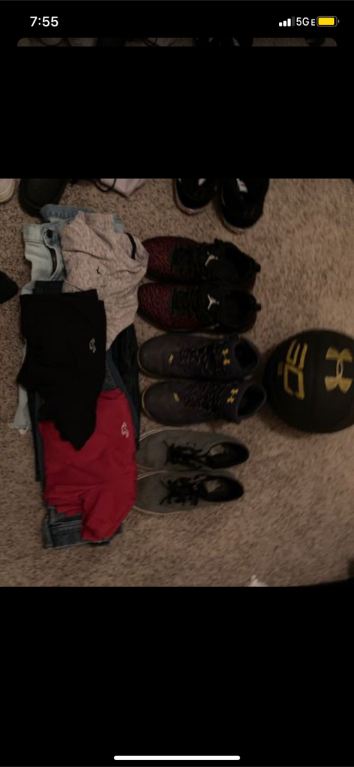 Photo 2 Hollister Pants 2 Hollister shirts 2 pair of shoes Stephen Curry and Vans and Stephen curry basket ball signed by him