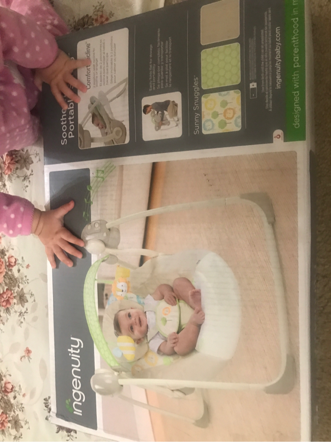 Photo Baby swing (soothe n delight portable swing) ingenuity