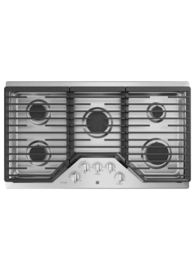 Photo GE Profile 36 5-Burner Stainless Gas Cooktop - Brand New
