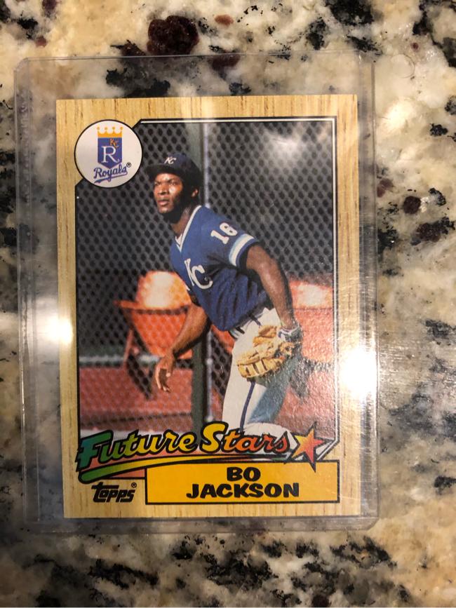 Photo Bo Jackson Topps Baseball Card