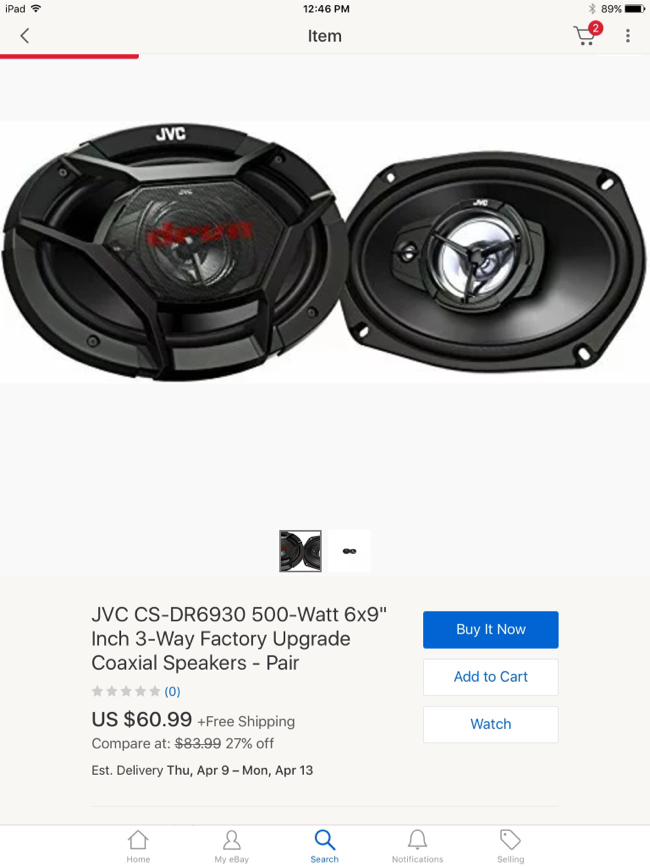 Photo POR FALTA DE TRABAJO NECESITA VENDERSE LO ANTES POSIBLE. PRECIO REBAJADO. Sale or trade. JVC CS-DR6930 6 x 9 CAR AUDIO COAXIAL SPEAKERS (PAIR) 6 x 9 INCH 3 WAY