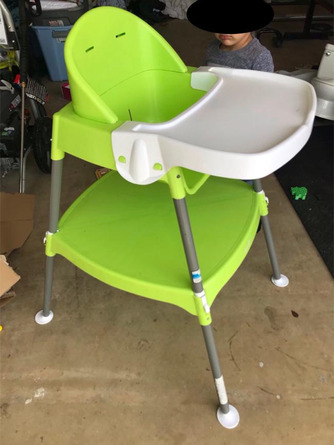 Photo Convertible High Chair