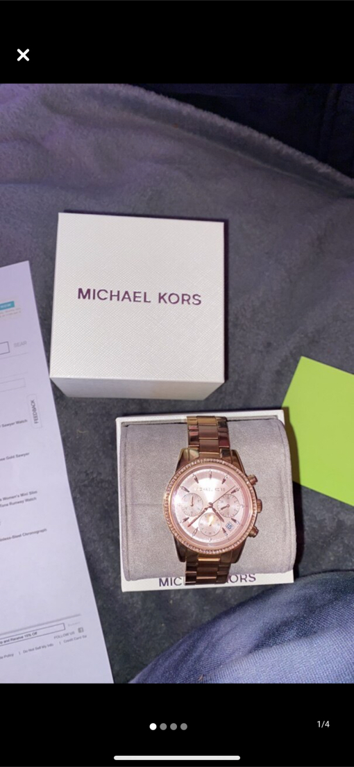 Photo Rose Gold Michael Kors Watch