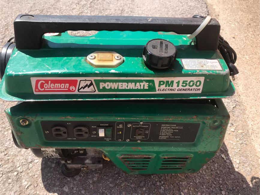 Photo Coleman powermate generator