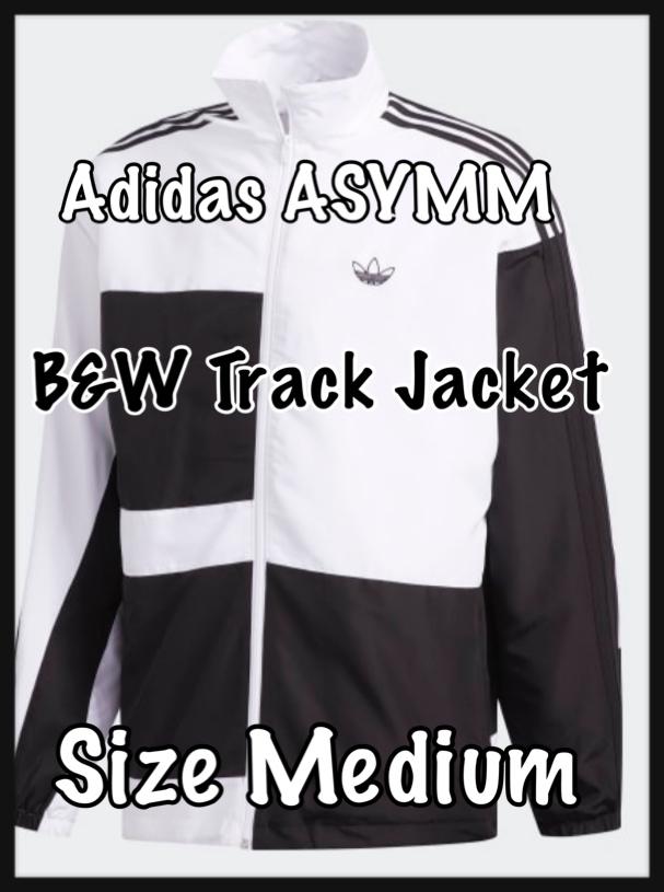 Photo Adidas ASYMM B&W Track Jacket - Size Medium - New!