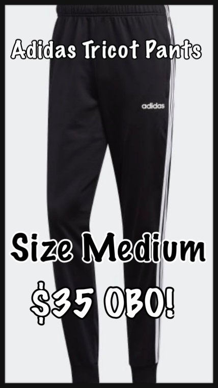 Photo Adidas Tricot Pants - Size Medium - New!