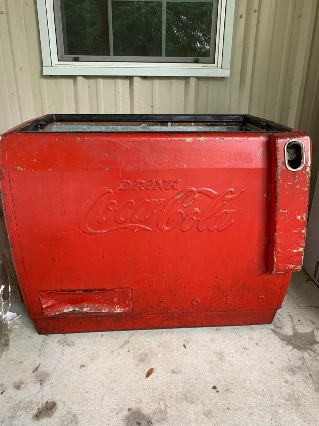 Photo Vintage Classic Coca Cola cooler 1950