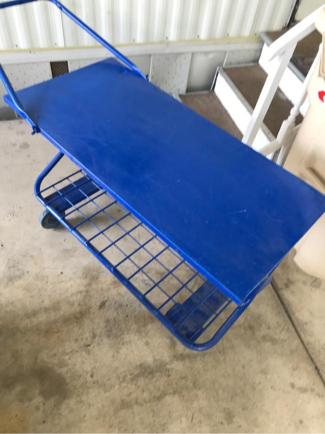 Photo Metal cart/easy rolling