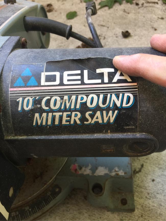 """Photo Delta 10"""" compound miter saw"""