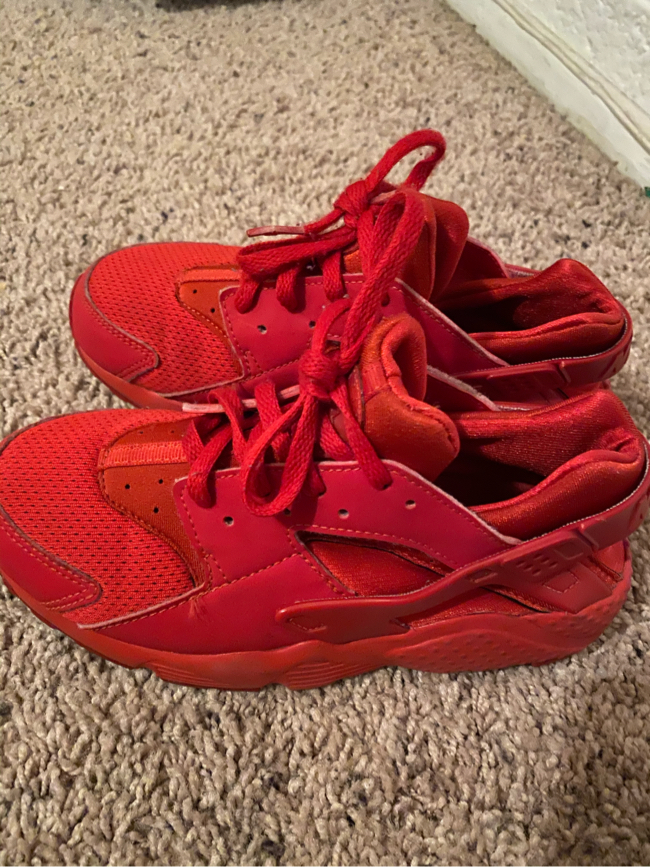 Photo Red Nike Huarache shoes