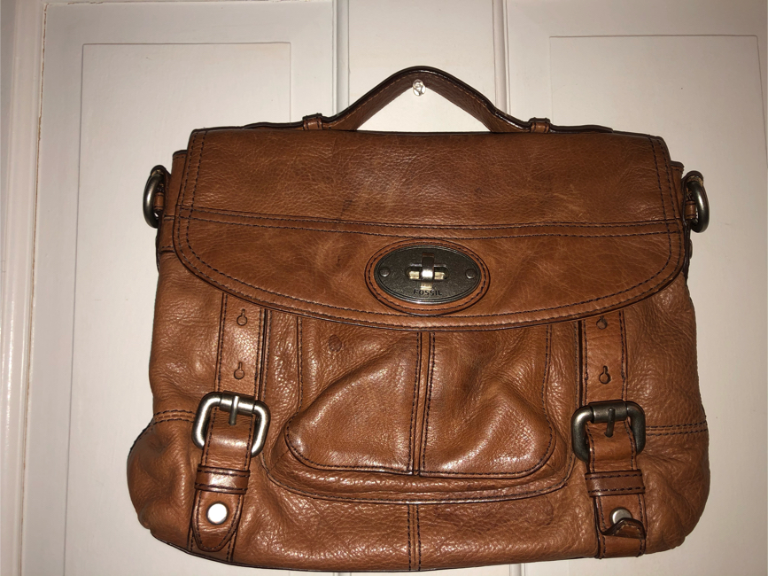 Photo FOSSIL leather handbag