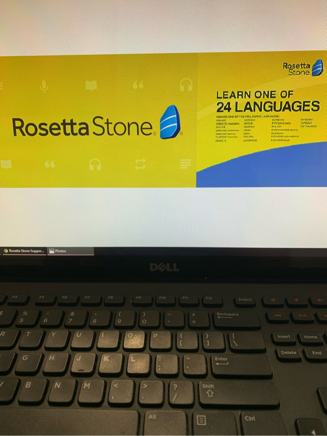 Photo Rosetta Stone Program Unlocked