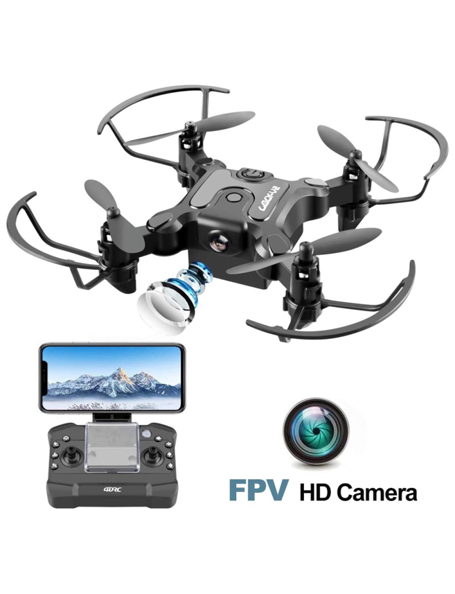 Photo 4DRC Mini Drone with Camera for Kids and Adults Beginners RC Foldable FPV Live Video Drone Quadcopter,App Control,3D Flips and Headless Mode,One Key Return,Altitude Hold,3 Modular Battery