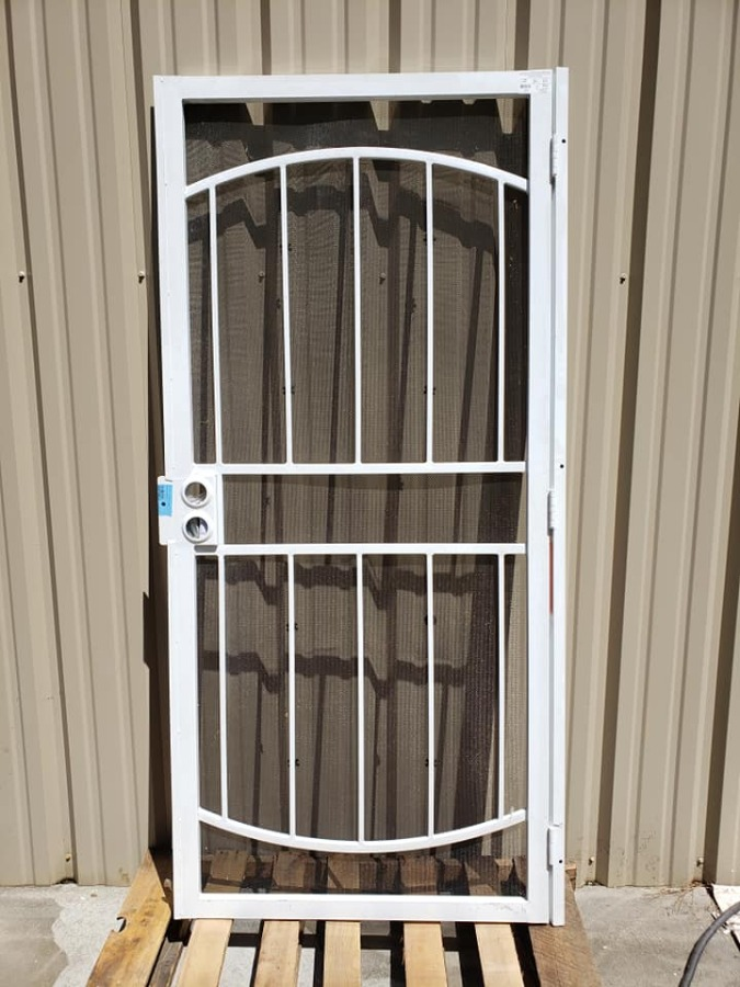 Photo Gatehouse White Gibraltar Steel Surface Mount Security Door, (32-in x 81-in)