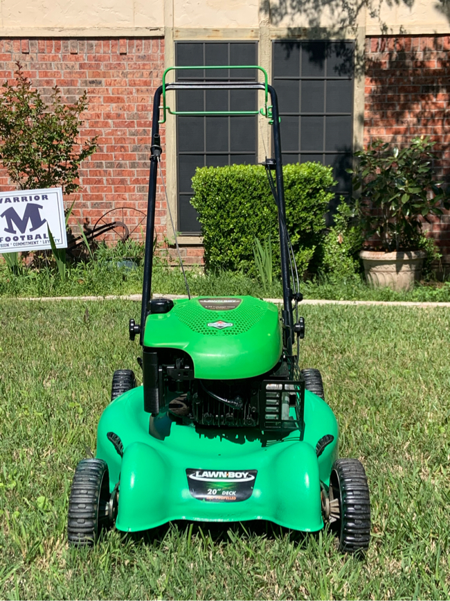 Photo What was the Yard-Man's nickname when he was a kid? The Lawn Boy!😬😂🤣 And this is his lawnmower!