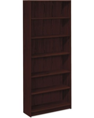 Photo HON 1890 Series Bookcase, 6 Shelves, 36 W by 11-1/2 D by 84 H, Mahogany