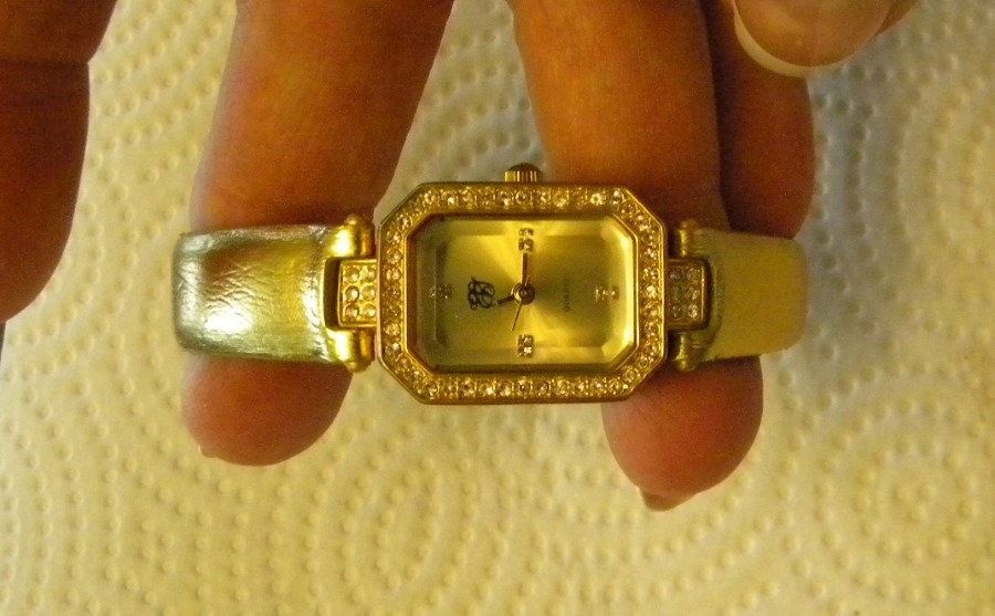 Photo Gold Elizabeth Taylor Watch with Crystal Bezel