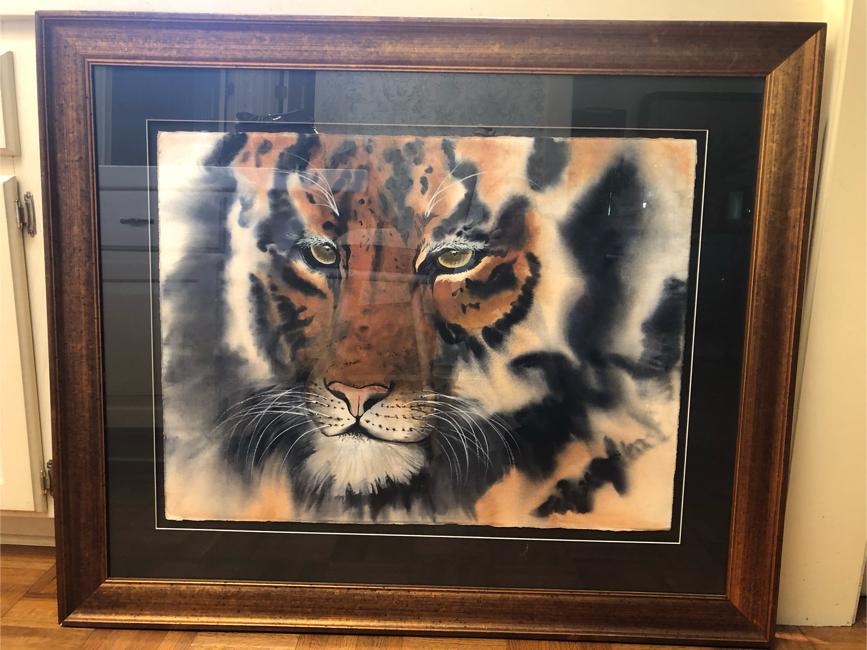 Photo Bengal tiger watercolor painting