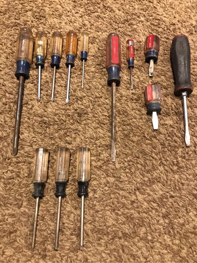 Photo 13 piece craftsman / snapon driver set