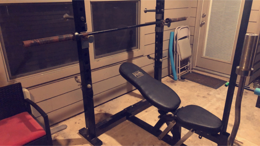 Photo Olympic Bench; Olympic Squat Rack