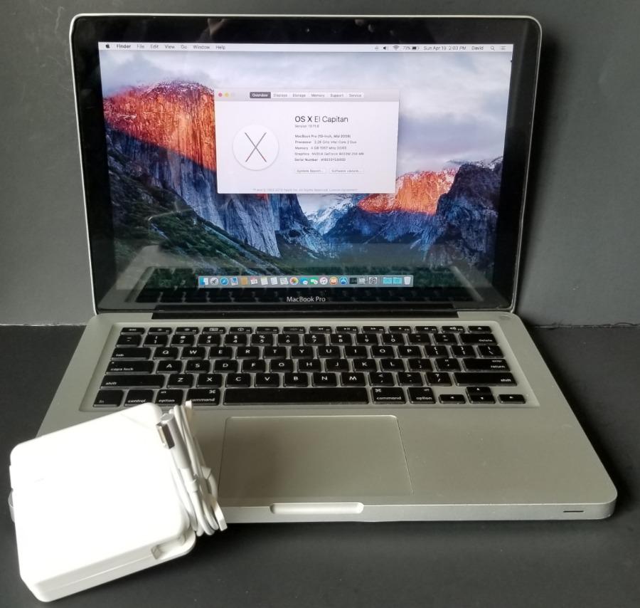 "Photo Apple MacBook Pro A1278 13"" Laptop 2.26GHz Intel Core 2 Duo 4GB Ram, 1TB Hard Drive, Good Condition"