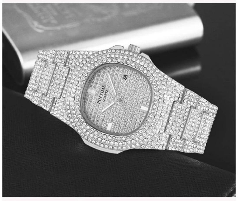 Photo NEW Unisex White Diamond Watch Iced Miami Luxury Watch; FREE SHIPPING