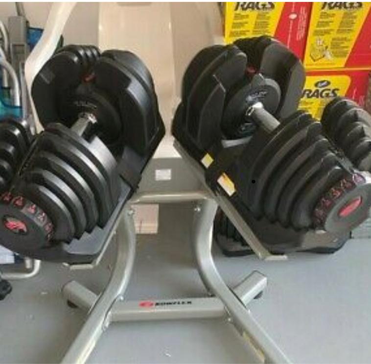 Photo Bowflex SelectTech 1090 Dumbbells Set (Two) Adjustable W/ Stand