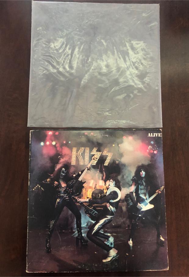 Photo KISS Alive! Vinyl Record 1st PRC Press 1975 Casablanca VG (1 Vinyl Side 3&4)