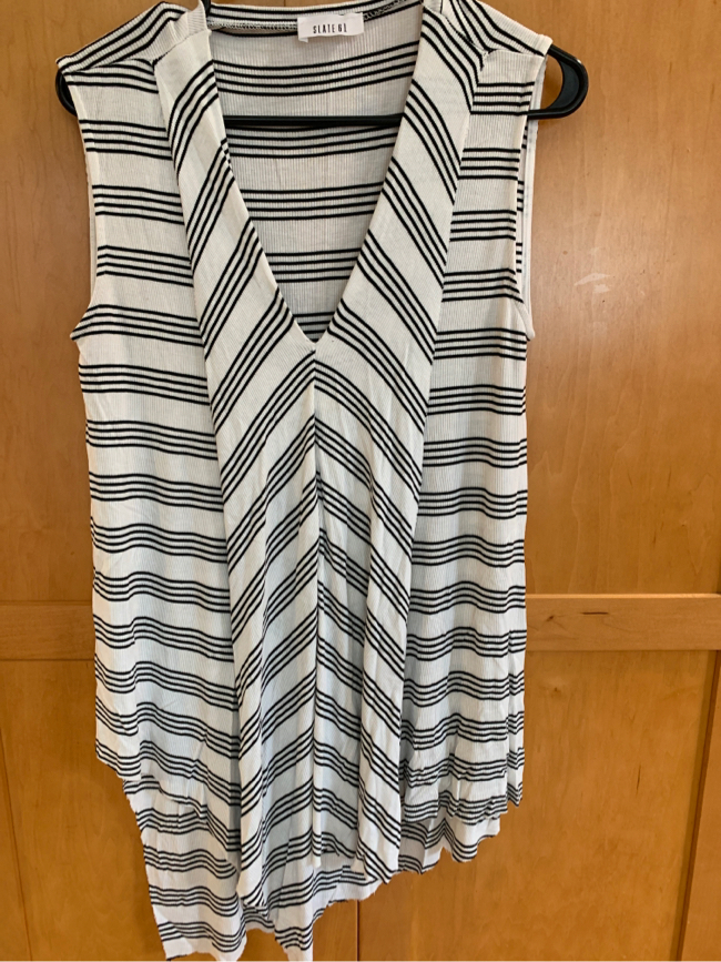 Photo Black and white tunic top large