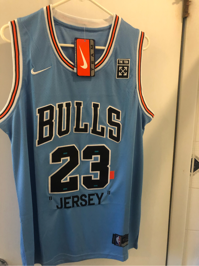 Photo Nike/ Off White Jordan collaboration nba Chicago bulls jersey men's size XL Nwt!