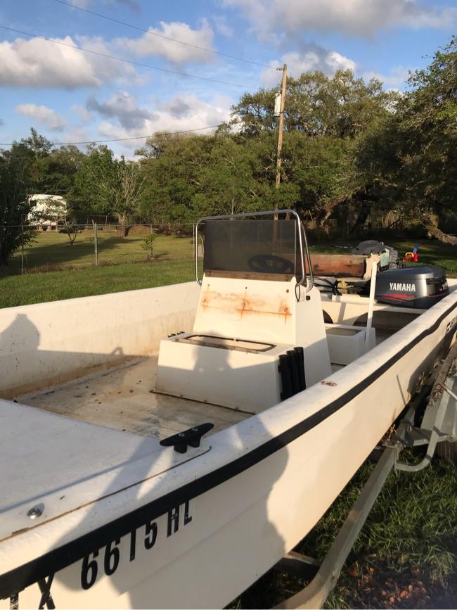 Photo 21 foot Carolina Skiff, flat bottom boat,