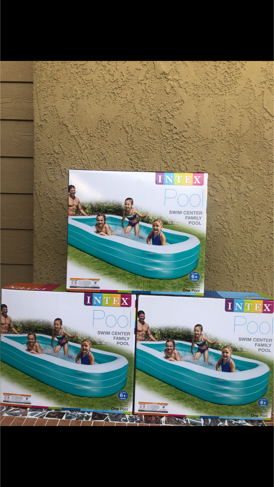 Photo 😀BRAND NEW SWIMING POOL INTEX INFLATABLE SWIM CENTER FAMILY LOUNGE POOL, 120X 72X 22 LOW OFFERS WILL BE IGNORED FIRM $80 EACH