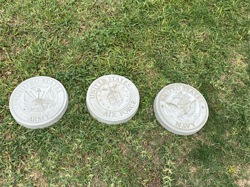 Photo US Navy / Army / Air Force Garden Stepping Stones