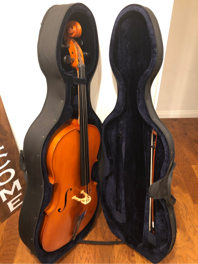 Photo D Z Strad handmade student cello model 101 with case &bow