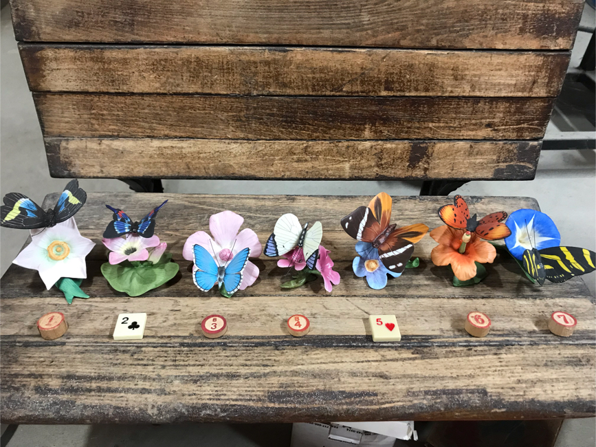 Photo Vintage 1985 Franklin Mint Butterflies of the World porcelain figurines $5 each or all for $25