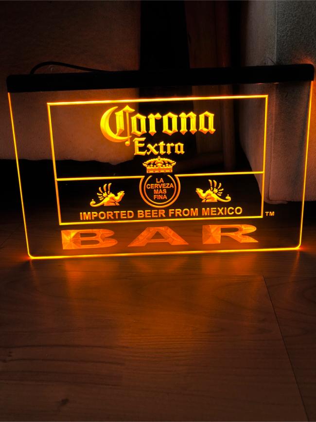 Photo CORONA EXTRA BAR LED NEON LIGHT SIGN 8x12