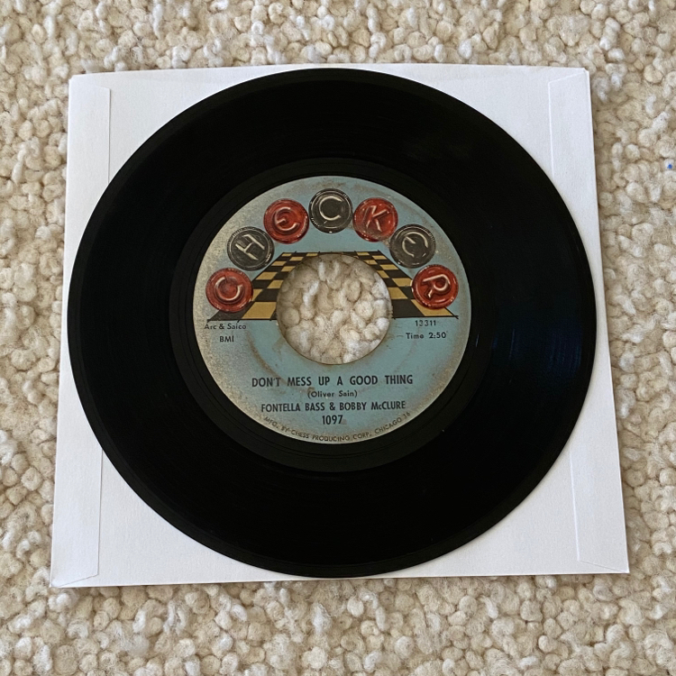 "Photo Fontella Bass & Bobby McClure ""Don't Mess Up A Good Thing"" vinyl 7"" single 1965 Checker Records Original 1st Pressing not a reissue nice player copy great 60s Soul. You'll love both sides! Definitely the pressing to collect. Great dance record"