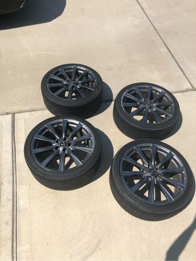 """Photo Authentic Lexus ISF factory oem 19"""" staggered offset rims gunmetal"""