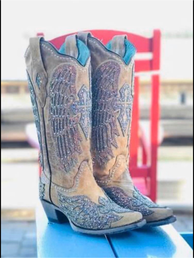 Photo Corral Women's Sand Wings Western Boot - Snip Toe - A3742 💕Condition is New with box 💕
