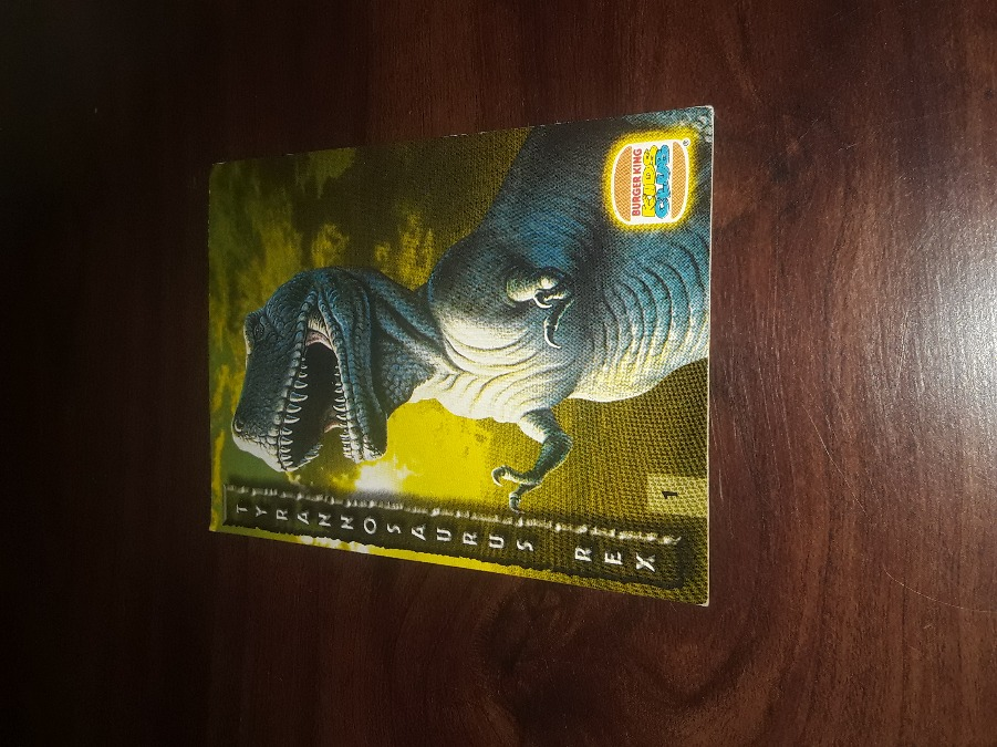 Photo COLLECTABLE RARE VINTAGE T REX CARD # 1