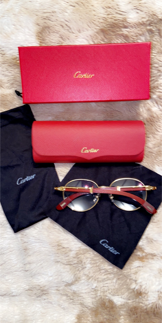Photo Round Cartier Glasses