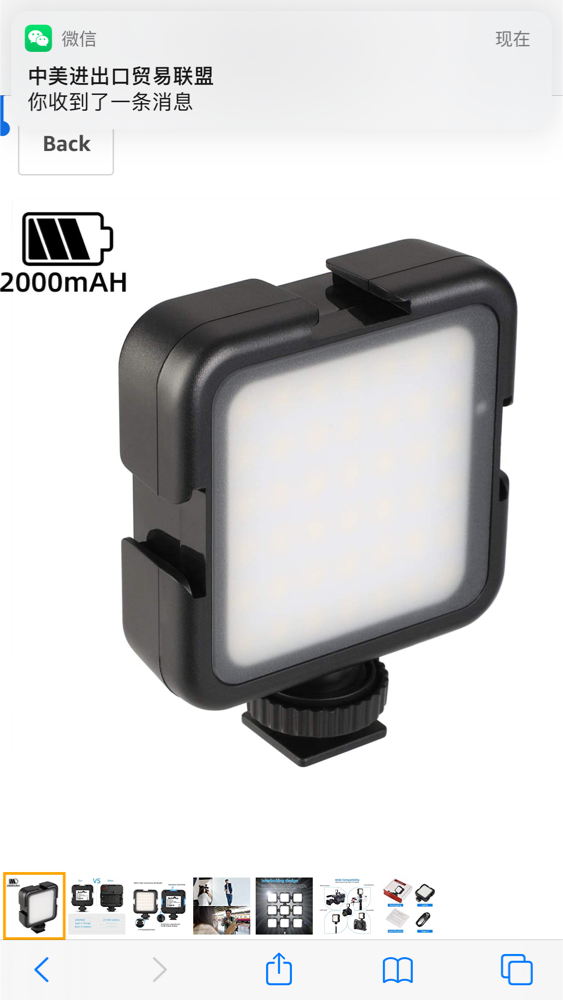 Photo 2000mAh Ultra Bright LED Video Light 42 Dimmable High Power Camera Light Pocket LED Light for DJI Ronin-S OSMO Mobile 2 Zhiyun WEEBILL Smooth 4 Gimbal for Canon Nikon Sony Digital DSLR Cameras